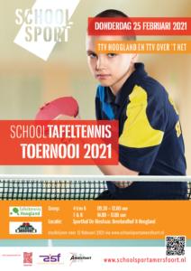 SCHOOL TAFELTENNIS TOERNOOI 2021